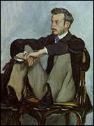 Portrait of Renoir by Bazill (1867)