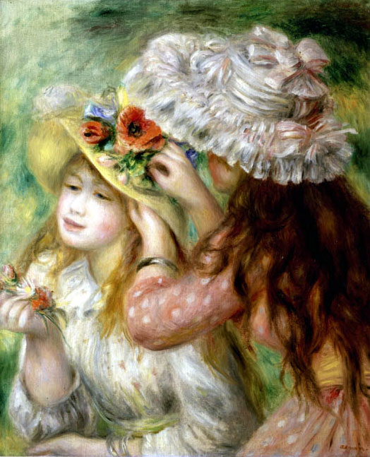 Summer Hats by Pierre-Auguste Renoir
