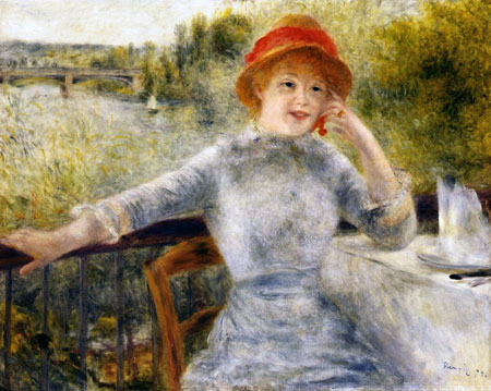 Alphonsine Fournaise on the Isle of Chatou by Pierre-Auguste Renoir