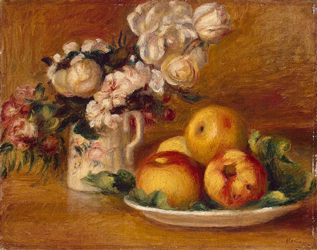 Apples and Flowers by Pierre-Auguste Renoir