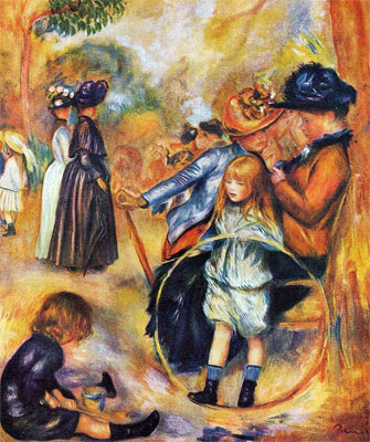 At the Luxembourg Gardens (Le Jardin du Luxembourg) by Pierre-Auguste Renoir