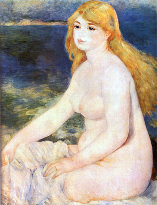 Blond Bather by Pierre-Auguste Renoir