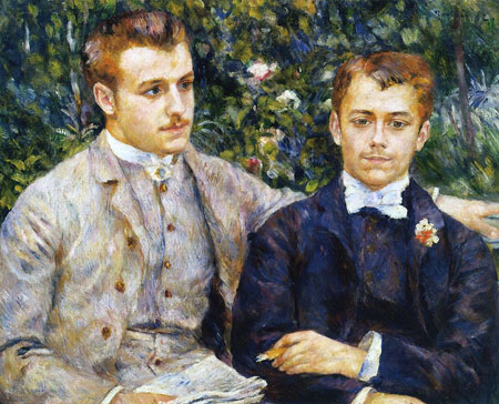 Charles and Georges Durand-Ruel by Pierre-Auguste Renoir