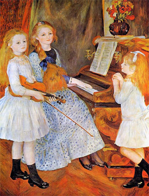 The Daughters of Catulle Mendes (Les filles de Catulle Mendés) by Pierre-Auguste Renoir