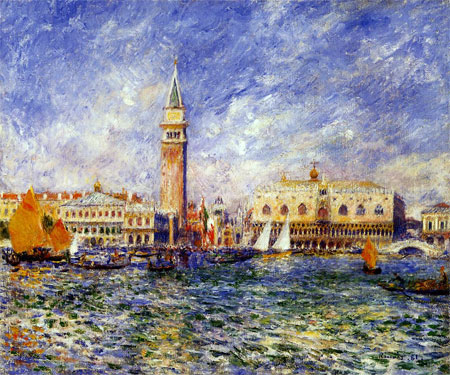 Doges' Palace, Venice by Pierre-Auguste Renoir