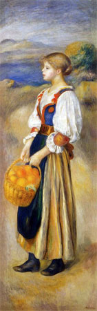 Girl with a Basket of Oranges by Pierre-Auguste Renoir
