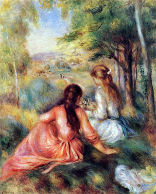 In the Meadow (Picking Flowers) by Pierre-Auguste Renoir