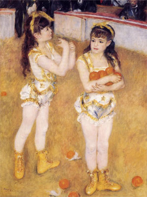 Jugglers at the Cirque Fernando (Francisca and Angelina Wartenberg) by Pierre-Auguste Renoir