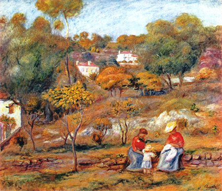 Landscape at Cagnes by Pierre-Auguste Renoir