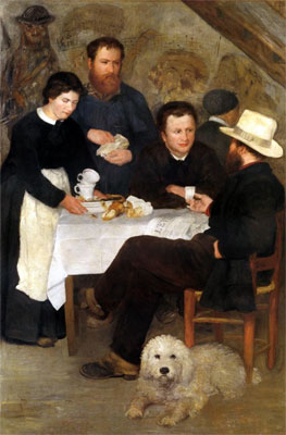 Mother Anthony's Inn at Marlotte by Pierre-Auguste Renoir