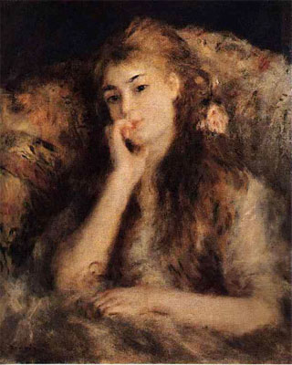 Portrait of a Girl by Pierre-Auguste Renoir