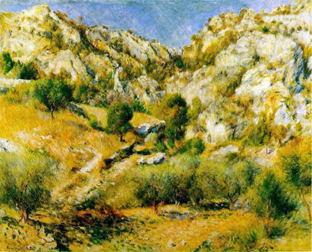 Rocky Craigs at l'Estaque by Pierre-Auguste Renoir
