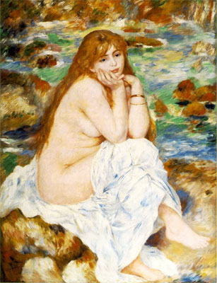Seated Bather by Pierre-Auguste Renoir