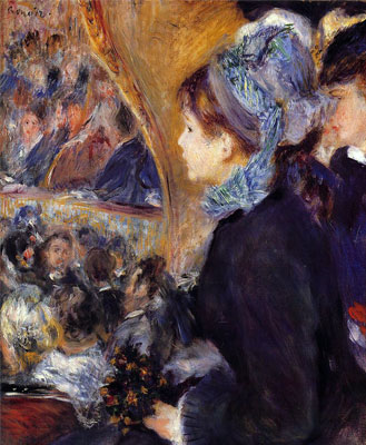 The First Outing (At the Theatre) by Pierre-Auguste Renoir