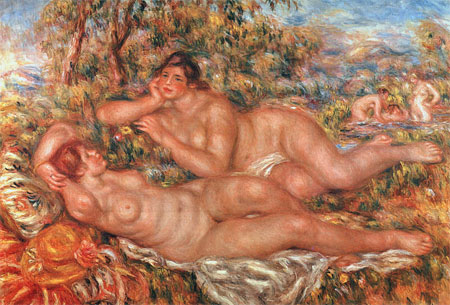 The Great Bathers (The Nymphs) by Pierre-Auguste Renoir