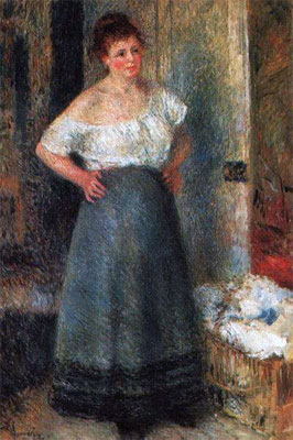 The Laundress by Pierre-Auguste Renoir