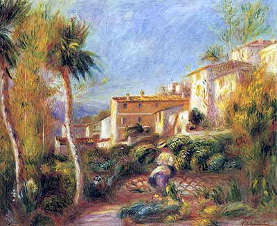 The Post Office House at Cagnes by Pierre-Auguste Renoir