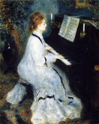 Woman at the Piano by Pierre-Auguste Renoir