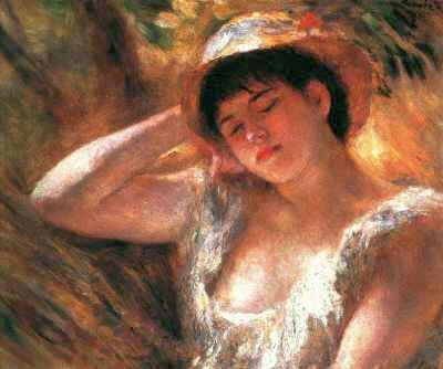 Young Girl Sleeping by Pierre-Auguste Renoir