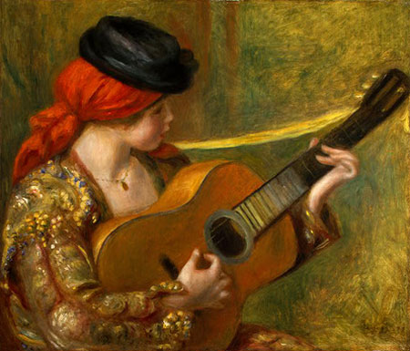 Young Spanish Woman with a Guitar by Pierre-Auguste Renoir