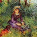 Madame Renoir with a Dog (1880) by Pierre-Auguste Renoir