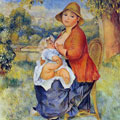 Mother and Child (1886) by Pierre-Auguste Renoir