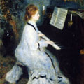 Woman at the Piano (1876) by Pierre-Auguste Renoir