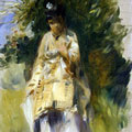 Woman Standing by a Tree (1866) by Pierre-Auguste Renoir